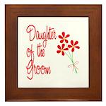 Bouquet Groom's Daughter Framed Tile