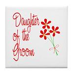 Bouquet Groom's Daughter Tile Coaster