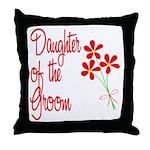 Bouquet Groom's Daughter Throw Pillow