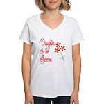 Bouquet Groom's Daughter Women's V-Neck T-Shirt