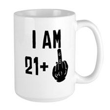 Middle Finger 22nd Birthday Mugs