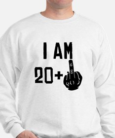 Middle Finger 21st Birthday Sweatshirt