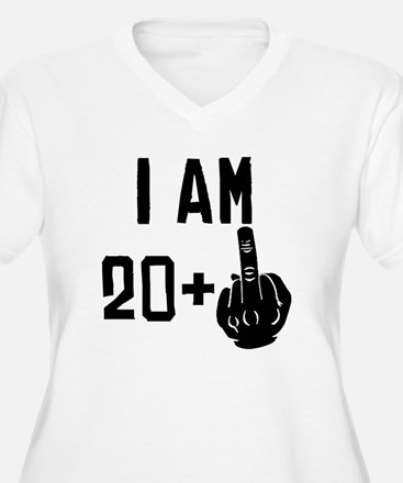 Middle Finger 21st Birthday Plus Size T-Shirt