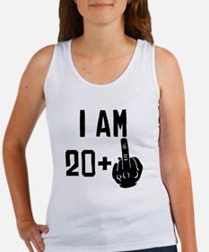 Middle Finger 21st Birthday Tank Top