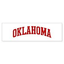 OKLAHOMA (red) Bumper Bumper Sticker