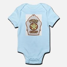 Fire chief helmet shield white Body Suit