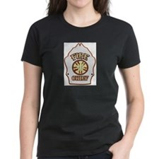 Fire chief helmet shield white T-Shirt
