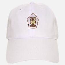 Fire chief helmet shield white Baseball Baseball Cap