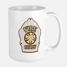 Fire chief helmet shield white Mugs