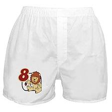 Birthday-Age: 8 (Lion) Boxer Shorts