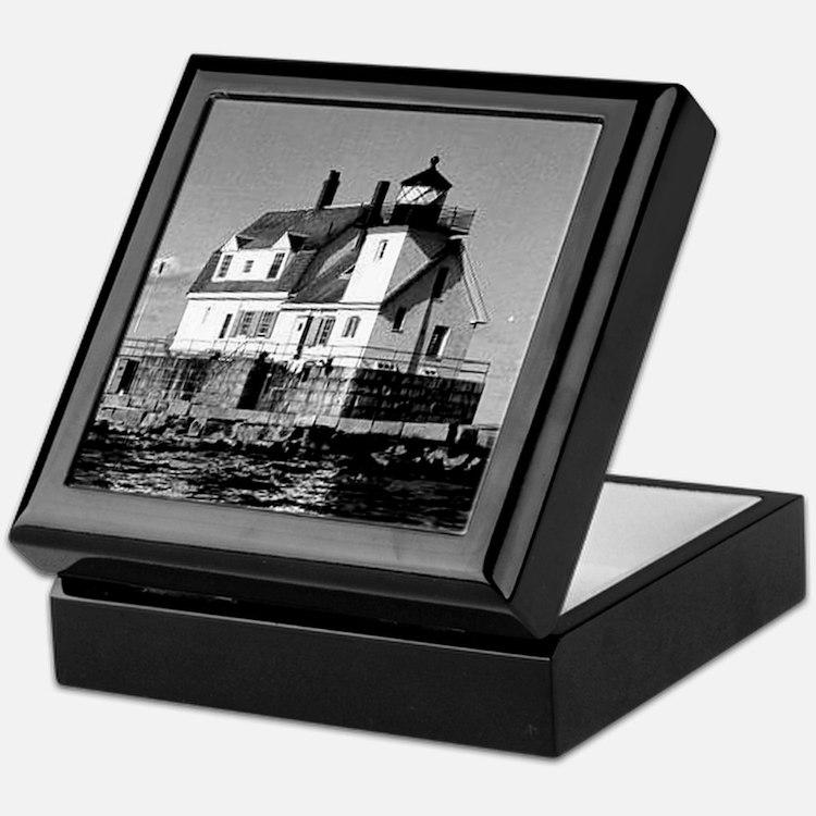 Rockland Harbor Breakwater Lighthouse Keepsake Box