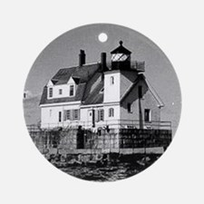 Rockland Harbor Breakwater Lighth Ornament (Round)