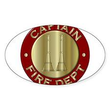 Fire captain emblem bugles Decal