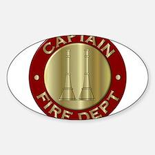 Fire captain emblem bugles Stickers