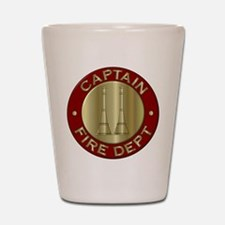 Fire captain emblem bugles Shot Glass