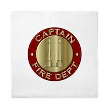 Fire captain emblem bugles Queen Duvet