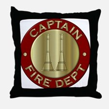 Fire captain emblem bugles Throw Pillow
