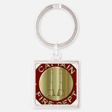 Fire captain emblem bugles Keychains