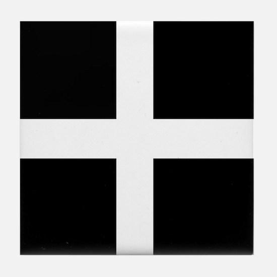 The Flag Of Cornwall Tile Coaster