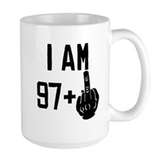 Middle Finger 98th Birthday Mugs