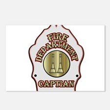 Fire Captain helmet shiel Postcards (Package of 8)
