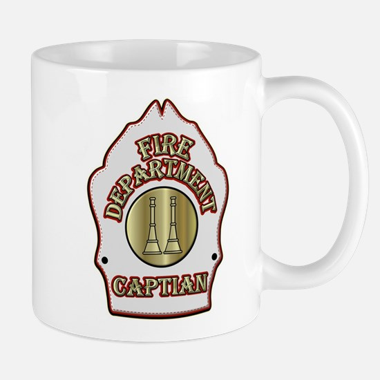 Fire Captain helmet shield white Mugs