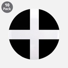 """The Flag Of Cornwall 3.5"""" Button (10 pack)"""