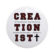 Creationist (RED) - Ornament (Round)