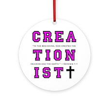 Creationist (PNK) - Ornament (Round)
