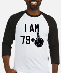 Middle Finger 80th Birthday Baseball Jersey