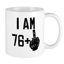Middle Finger 77th Birthday Mugs