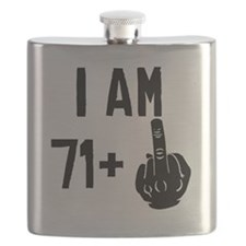 Middle Finger 72nd Birthday Flask
