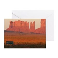 Unique Monument valley Greeting Card