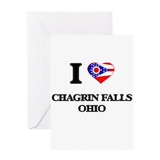 I love Chagrin Falls Ohio Greeting Cards