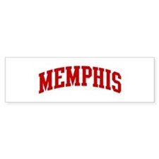 MEMPHIS (red) Bumper Bumper Sticker