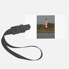 Asateague lighthouse (rustic) Luggage Tag