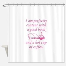 Good Book And Coffee Shower Curtain