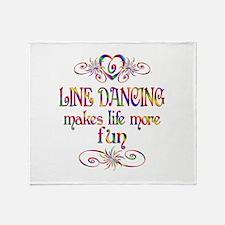 Line Dancing More Fun Throw Blanket