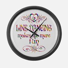 Line Dancing More Fun Large Wall Clock