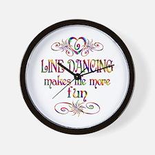 Line Dancing More Fun Wall Clock