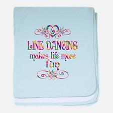 Line Dancing More Fun baby blanket