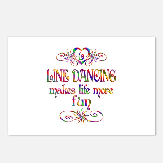 Line Dancing More Fun Postcards (Package of 8)