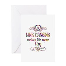 Line Dancing More Fun Greeting Card