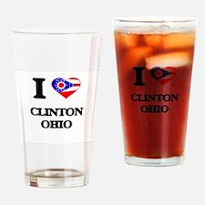 I love Clinton Ohio Drinking Glass