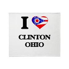 I love Clinton Ohio Throw Blanket