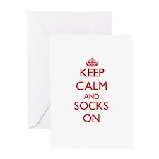 Keep Calm and Socks ON Greeting Cards