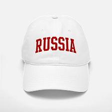 RUSSIA (red) Baseball Baseball Cap