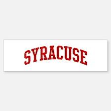 SYRACUSE (red) Bumper Bumper Bumper Sticker