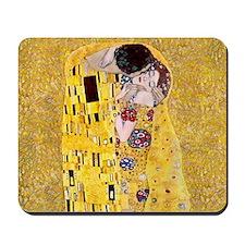 Klimt The Kiss Lovers Mousepad