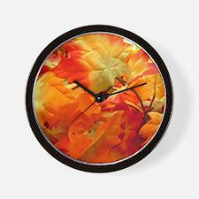 Bright fall leaves Wall Clock